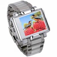 1.8''  Stainless Steel MP4 Watch Player with FM Transmitter Manufactures