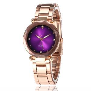 Ladies Luxury Quartz Dress Colorful Dial Analog Alloy Classic Quartz WristWatch Women