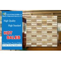 Interior Travertine Mosaic Tiles Natural Stone Marble 12 X 12 Inch Manufactures