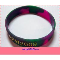 glow in the dark silicone wristbands with mixed color Manufactures