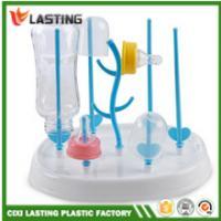 China Foldable Plastic Draining Rack PVC Free , Baby Bottle Drying Rack For Feeding for sale