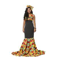 Long African Print Dresses Wax Cotton Print Dashiki Traditional Patchwork Manufactures