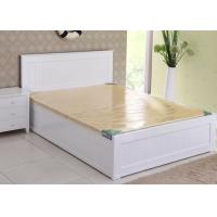 Modern Super King Wooden Bed Frame , Contemporary Hotel White Twin Bed Frame Manufactures