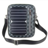 5W Water Resistan Solar Charging Backpack With Solar Panel Black Color Manufactures