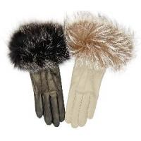 Lady′s Fashion Leather Gloves with Fur (CF1589) Manufactures