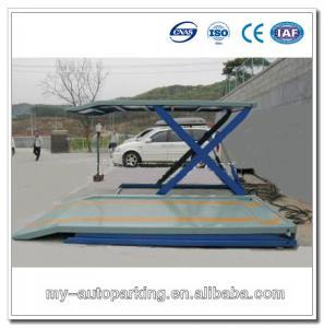 China Scissor Car Garage 2 Level Parking Lift Car Underground Lift on sale
