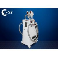 Non - Invasive 4 Handle Cryolipolysis Slimming Machine With RF Cavitation Manufactures