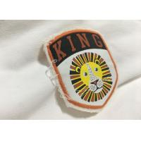 Merrow Border Custom Stitched Patches , Clothing Iron On Embroidered Patches For T Shirts Manufactures
