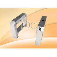Quality single lane swing barrier turnstile with access control panel for sale