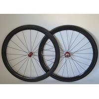 50mm Carbon Clincher Wheelset , Carbon Bicycle Wheels R36 Straight Pull Hub 700c Manufactures