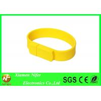 4GB Silicone Wristbands Promotional USB Sticks16GB 32GB 64GB Custom Rubber Bracelets Manufactures