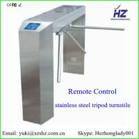 China IC card/ ID card/ card/ barcode card automatic stainless steel security tripod turnstiles gate on sale