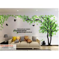 Buy cheap High quality TV background 3d acrylic material LOVERS tree wall sticker from wholesalers