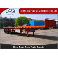 China 3 axle flatbed truck trailer for sale 40ft or 20ft container delivery trailer on sale