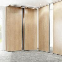 Modular Hanging Folding Room Partition Walls MDF + Aluminum Material Sound Insulation Manufactures