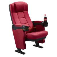 Comfortable High Density Foam Cinema Theatre Seats With Cup Holder Manufactures