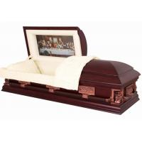 Last Supper Wood Caskets SWC06 In Poplar Material Cremation Caskets Manufactures