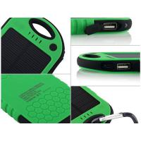 ABS and Silicon 5000mAh Polymer Battery Outdoors Waterproof Solar Power Bank DC5V 2.1A Manufactures