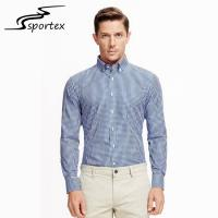 China Fashion Long Sleeve Mens Casual Dress Shirts Office Check Shirts Skin Friendly on sale