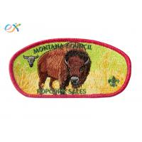 100% Embroidery Boy Scout Patches Polyester Material With Merrow Border Manufactures