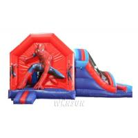 China Spider Man Trampoline Inflatable Bounce House With Slide For Amusement Park on sale