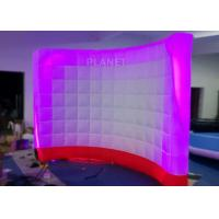 3 Meter Led Inflatable Wall 210 D Reinforce Oxford Material Logo Printing Manufactures