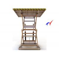Yellow Heavy Duty Double Scissor Lift Table 2.4m Lifting Height With 3T Load Manufactures