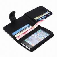 Lichee Skin Wallet Leather ID Card Slots Case for iPhone 5/5G Manufactures