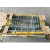 T6 Steel Grating Stair Treads With Yellow Nonskid Nosing Low Carbon Steel Manufactures