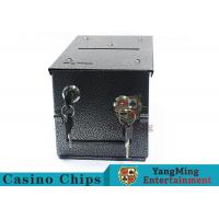 Double - Lock Design Casino Cash Box With Thicker Metal Iron For Coins / Chips Manufactures