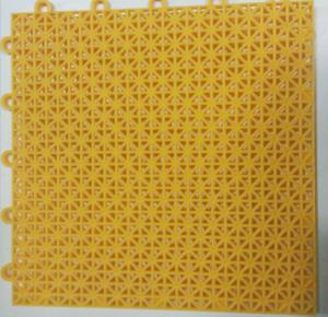 China Yellow Soft Textile PVC Floor Mat , High Strength PVC Interlocking Floor Tiles on sale