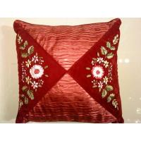 Embroidery Flower Pattern Cushion Cover/Pillow Case Manufactures