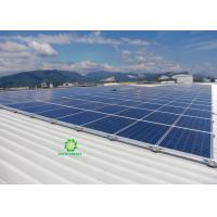 China Pitched Metal Roof Solar Mounting Systems , Solar Panel Mounting Brackets on sale
