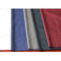 One Side Wool Coating Fabric 25% Viscose 35% Polyester For Dry Cleaning Dress Manufactures