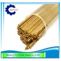 China 0.6x400mmL Double Hole EDM Brass Tube / Eletrode Pipe For EDM Drilling Machine on sale
