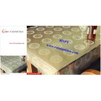 PVC Table Cloth --RNPT Crystal lace table cloth ---Beautiful home decoration table cover Manufactures
