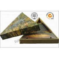 Triangle Handmade Mounting Custom Printed Corrugated Boxes With Hard Insert Cardboard Manufactures