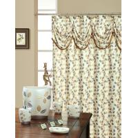 Different Color Elegant 100 Polyester Shower Curtain , 220CM Shower Curtain