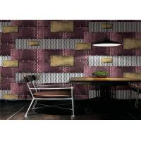 Metallic PVC Waterproof Wallpaper Modern Style Water Resistant With 0.53m Width Manufactures
