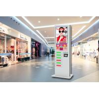 42 Inch LCD Digital Signage Cell Phone Fast Charging Station Kiosk  with 6 Secured Safe Doors Manufactures