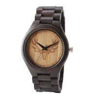 China Luxury Quartz Movement Bamboo Wooden Watch Water Resistant For Women / Men on sale