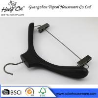 Quality Ashtree Wooden Clothes Hanger With Gun Black Clips 40 * 4.0cm for sale