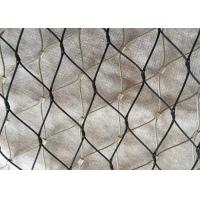 China Black Oxide Coated Stainless Steel Wire Rope Mesh Netting for Facade Cladding on sale