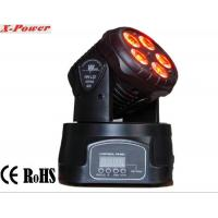 Professional Dj Lighting Equipment , 5*15W RGBWA LED Mini Moving Head Wash Light   X-12 Manufactures