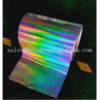 Hot sell 18 micron Seamless rainbow  BOPP  holographic lamination film for wet laminaion process Manufactures