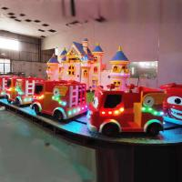 China Kids Play Equipment Fire Fighting Ride With Beautiful Decorative House on sale