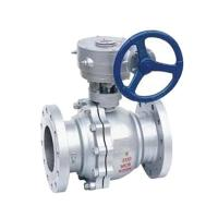 China Turbine Stainless Steel Ball Valve Gear Operated Type CE AND ISO9001 Approved on sale
