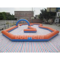 Customized Inflatable Zorb Ball Field , Zorbing Ball Track With PVC Tarpauline for sale