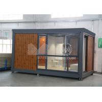 China Customized Color Prefabricated Garden House , Mini Backyard Prefab Wood Cabins on sale