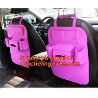 China Customized Felt Car organizer, Large Capacity Grey Felt Car Organizer , New Promotion Car Accessories Seat Back Storage on sale